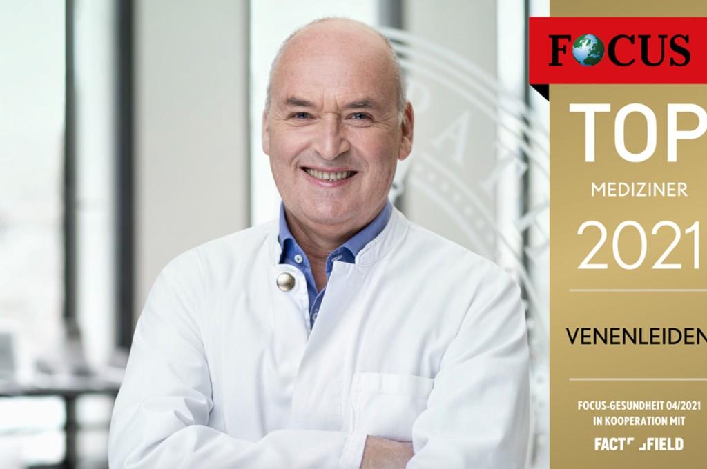 Ausgezeichnet: Dr. med. Jens Alm erhält das FOCUS Siegel im Bereich Venenleiden